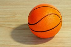 Free Basketball Ball On The Floor Stock Image - 28581321