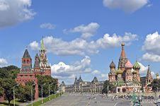 Red Square Vasilyevsky Descent Stock Photo