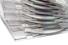 Stack Of CD In Boxes Royalty Free Stock Photo