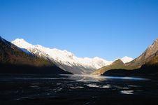 Free Snow Mountain And Lake Stock Photos - 28581633