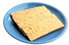 Free Crackling Rye Bread On A Blue Ceramic Plate. Stock Photography - 28582072
