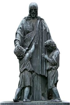Free Sculpture Of Jesus Christ With Children Stock Photos - 28583133