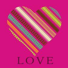 Free Romantic Card Ornamental Heart Stock Photo - 28585480