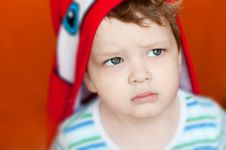 Free Little Boy Closeup Look Strong Royalty Free Stock Images - 28587449