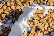 Firewood For The Winter Royalty Free Stock Photography