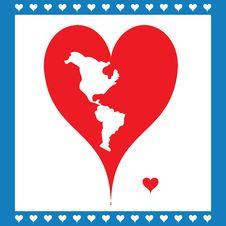 Free Illustration Heart Symbolizing American Map Royalty Free Stock Photography - 28588277