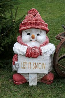 Free Snowman Figure. Stock Photos - 28588373