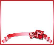 Free Valentine Background With Ribbon Stock Photography - 28588762