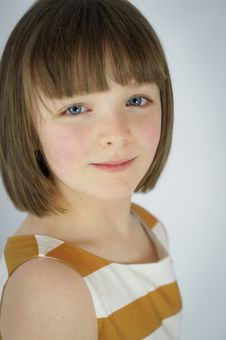 Free Portrait Of Young Girl With Slight Smile Stock Photos - 28588813