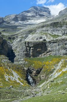 Falls In The Spanish Pyrenees Royalty Free Stock Photos