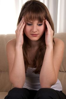Free Teen Girl With Headache. Stock Photos - 28589893