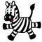 Free Simple Childish Zebra Stock Photo - 28586100
