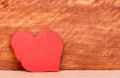 Free Heart And A Clip On The Wooden Background Royalty Free Stock Photos - 28592088