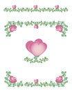 Free Hearts-vines Borders Stock Image - 28593701