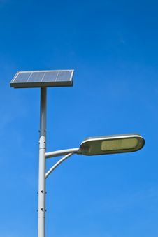 Solar Cell Lamp Stock Photography