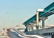 Construction Of The Overpass Royalty Free Stock Images