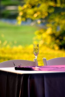 Wine Glass On A Table Stock Images