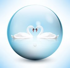 Free Swans In Sphere Royalty Free Stock Images - 28595299