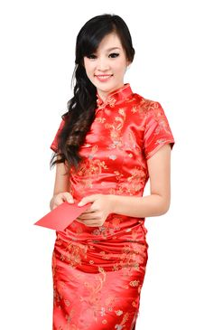 Free Pretty Women With Cheongsam Royalty Free Stock Image - 28597096