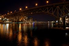 Free Bridge At Night At Vancouver Canada Stock Photo - 28597340