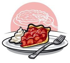 Free Strawberry Pie Royalty Free Stock Photos - 28599278