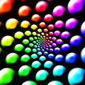 Free Rainbow Balls Royalty Free Stock Photography - 2867177