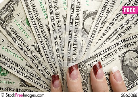 Free Feminine Hands Holding Money Royalty Free Stock Photos - 2865088