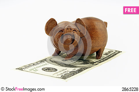 Free Pigs And Money Royalty Free Stock Photos - 2865228