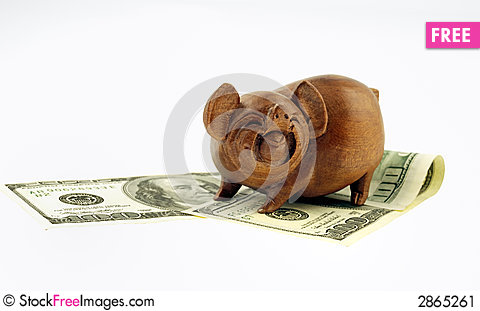 Free Pigs And Money Stock Image - 2865261