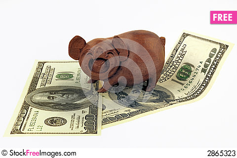 Free Pigs And Money Stock Photos - 2865323