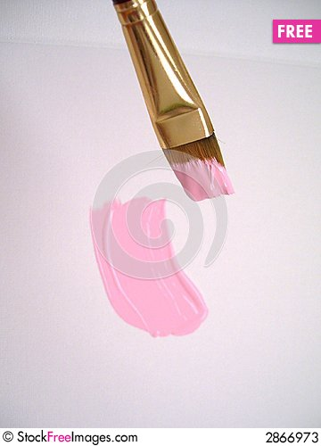 Free Brush In Pink Colors Stock Photos - 2866973