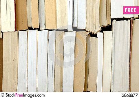 Many old books Stock Photo
