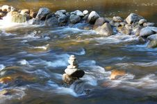 Waterbodies With Rocks Stock Image
