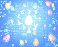 Free Easter Eggs Doves Royalty Free Stock Images - 2863649