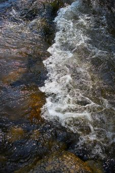 Small Rapids In A River Royalty Free Stock Photos