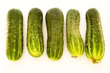 Five Cucumbers Stock Photos