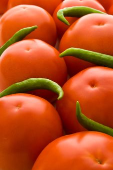 Free Tomatoes And Peppers Backgroun Stock Images - 2864094