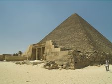 Ancient Temple At Pyramid Royalty Free Stock Photography