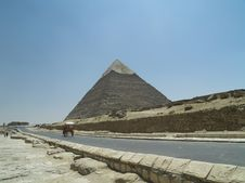 Road At The Greate Pyramid Of Stock Photo