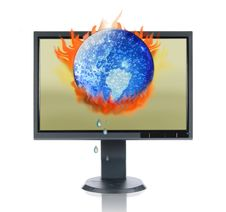 Free LCD Monitor And Global Warming Royalty Free Stock Photos - 2865588