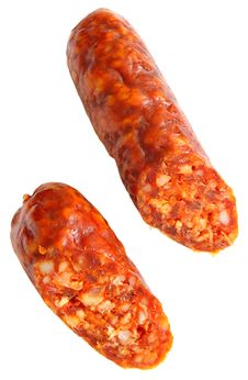 Free Cuted Spicy Home-made Sausage Stock Image - 2866401