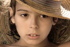Free Girl With Hat Royalty Free Stock Photo - 2866445