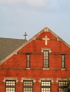 Free Red Brick Church Royalty Free Stock Image - 2867006