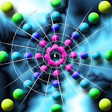 Free Rainbow Spiderweb Balls Royalty Free Stock Photography - 2867157