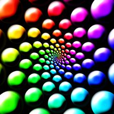Free Rainbow Balls Royalty Free Stock Photography - 2867177