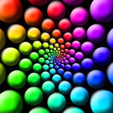Rainbow Balls Stock Photos