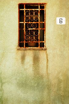 Grunge Old Window Stock Photography
