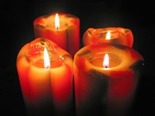 Free Big Decorative Candles Royalty Free Stock Images - 2868009