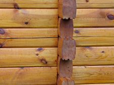 Free Details Of Logs Wall Stock Image - 2868351