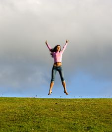 Free Happy Young Beautiful Girl. Stock Photography - 2869362